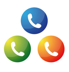 phone icon button vector image