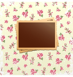 Photo cards on shabby chic background vector