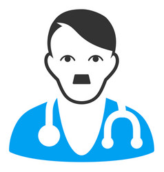 Physician doctor flat icon vector