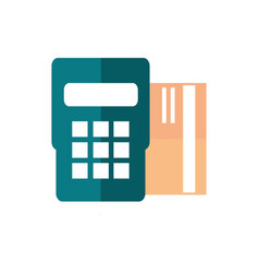 pos terminal bank card payment business commerce vector image
