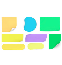 Post sticky colored papers office notes vector