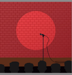 red brick stand up comedy cartoon theme vector image
