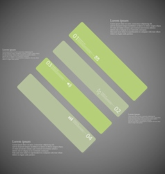 Rhombus template consists of four green parts on vector