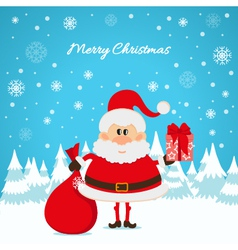 Santa Claus with a red bag and gifts The Christmas vector