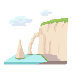 sea cliff icon cartoon style vector image