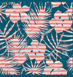 seamless exotic pattern with tropical plants and vector image