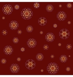 Seamless lace pattern on red background vector