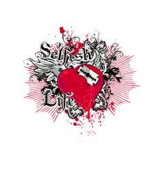 selfish life vector image
