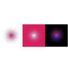 Set 3 circles in retro halftone style halftone vector