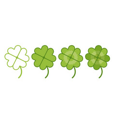 set lucky clover vector image