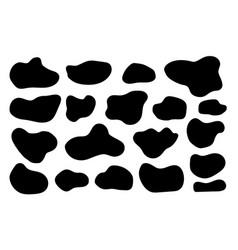 set organic shapes hand drawn free form vector image