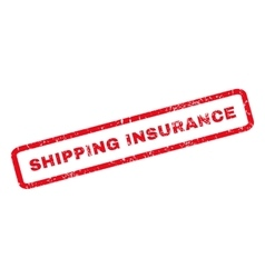 Shipping Insurance Rubber Stamp vector image