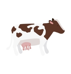 Silhouette color with cow brown spots vector