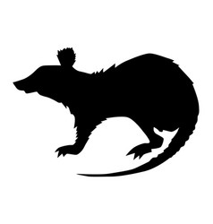 Silhouette rat vector