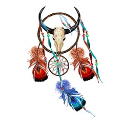 Skull Dreamcatcher vector