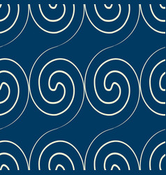 Squiggles seamless pattern vector