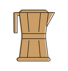 Stove top coffee maker icon imag vector