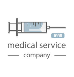 syringe medical service the modern design of the vector image