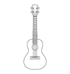 Ukulele icon outline vector