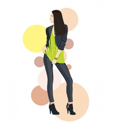 Vector fashion girl model vector