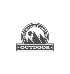 Vintage mountain camping badge outdoor logo vector image