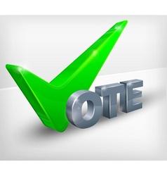 Vote check mark on white vector image