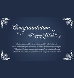 Wedding invitation card simple style vector