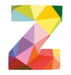 Z colorful letter isolated on white background vector