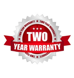 2 year warranty button vector image