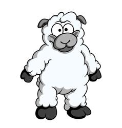 Funny woolly cartoon sheep vector image