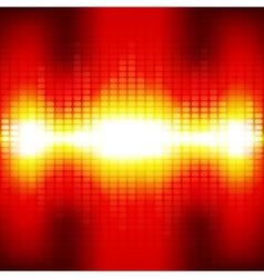Red digital equalizer background with flares vector image