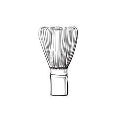 sketch cartoon wooden whisk for matcha vector image