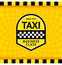 Taxi symbol with checkered background - 23 vector image vector image