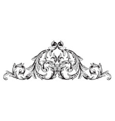 baroque vintage elements vector image