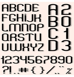 Black font vector image vector image