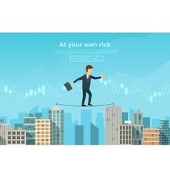 Businessman or man in crisis situation vector image