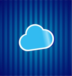 Cloud computing sticker concept vector image vector image