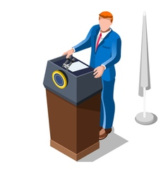 Election Infographic Lecture Theatre Isometric vector image vector image