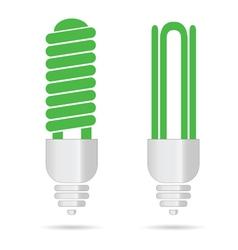 energy saving green light bulbs vector image