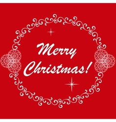 Happy New Year and Marry Christmas vector image