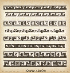 Seamless maze border Simple to use elements vector image