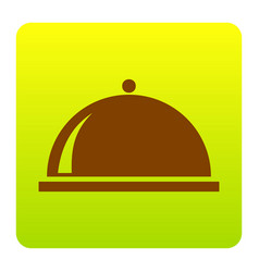 server sign brown icon at vector image
