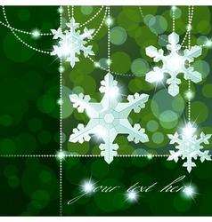 snowflake ornaments vector image vector image