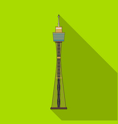 sydney tower icon in flat style isolated on white vector image