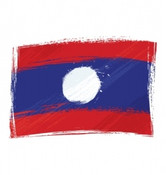 grunge Laos flag vector image