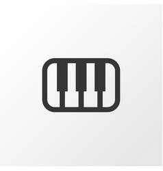 piano icon symbol premium quality isolated octave vector image