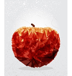 Red apple geometric shape vector image vector image