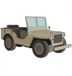 Willys jeep WW 2 vector image vector image