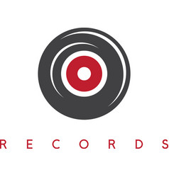 abstract vinyl record simple icon design template vector image