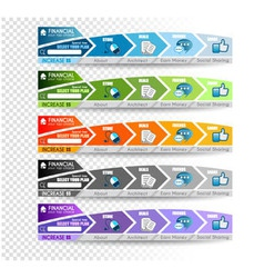Collection of web elements vector image vector image
